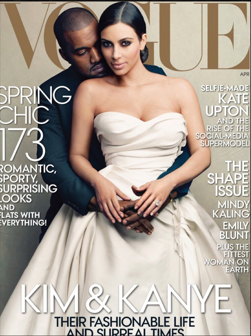 Kim and Kayne in Vogue